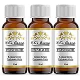Rks Aroma Lemon Grass Essential Oil, 10 Ml Each - Pack Of 3
