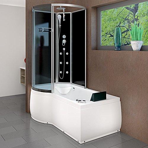 AcquaVapore DTP8050-A302R Whirlpool Wanne Duschtempel Dusche Duschkabine 98x170, EasyClean Versiegelung der Scheiben:2K Scheiben Versiegelung +79.-EUR