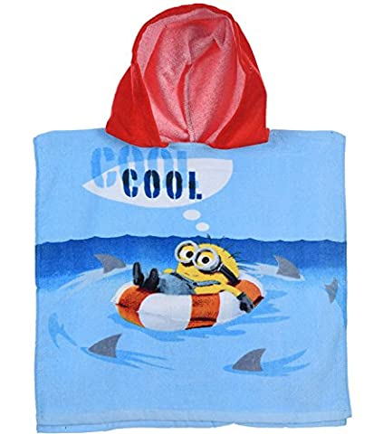 Minion Toddler Costume - Serviette Poncho pour enfant en coton Motif