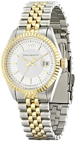 Philip Watch Caribbean r8253107509 – Ladies Watch – Analogue Quartz – White Dial – Steel Bracelet Silver
