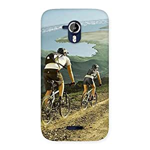Enticing Bycycle View Back Case Cover for Micromax Canvas Magnus A117