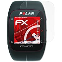 atFoliX Polar M400 Antichoque Película Protectora - 3 x FX-Shock-Antireflex sin reflejos que absorbe los golpes Anti-Choque Lámina Protectora de Pantalla
