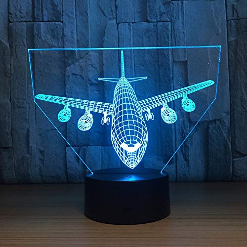 ZNNBNG 3D Lampe Flugzeug 3D Illusion Lampe Led Flugzeuge Nachtlichter Usb Touch Remote Atmosphäre Lampe Beleuchtung 09 Bluetooth