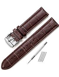 iStrap 21mm Cuero Auténtico Reloj Band Brazalete Correa de Reloj Watch Bracelet Band Marrón