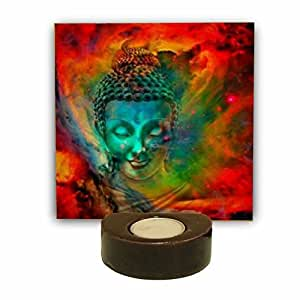 Yaya Cafe TYYC Buddha Tealight Candle Holder | Eloquent Buddha Idol Tea Light Holders Set Of 1 - 6X6 Inches| T-Lights Candles Diyas Lights