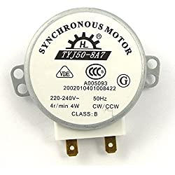 Foxnovo TYJ50-8 a 7 AC 220V-240V 4 toursmn 4W CWCCW micro-ondes Turnable moteur synchrone