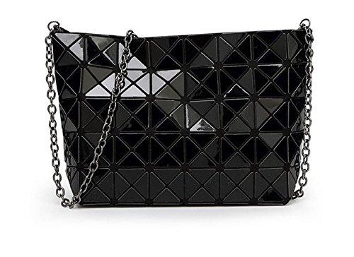 (Hologramm Tasche Frauen geometrische Handtasche Crossbody-tasche Hologramm Silber Tasche)
