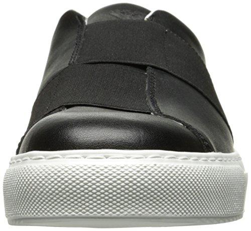 Armani Jeans Cross Strap Slip On Herren Sneaker Schwarz Schwarz