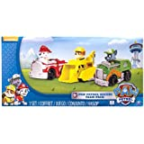 Nickelodeon, Paw Patrol - Rescue Racers 3pk Vehicle Set Marshal Rubble, Rocky (Baby/Babe/Infant - Little ones)