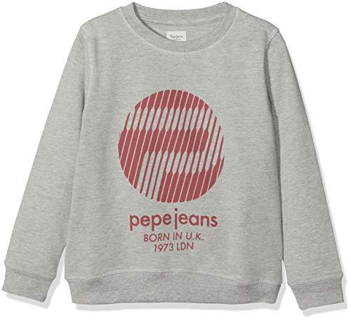 Pepe jeans leonard jr, felpa bambino, grigio (grey marl 933), 10 anni