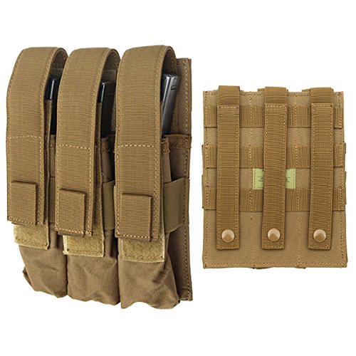 Fields Airsoft MP7 MP5 Triple Magazine Pouch Molle 9MM Mag Utility (Mm Mag 9 Pouch)
