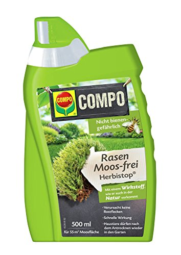 COMPO Rasen Moos-frei Herbistop, Bekämpfung Moosen und Algen, Konzentrat, 500 ml