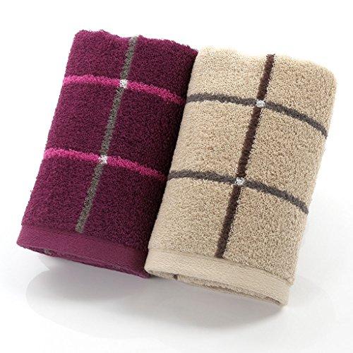 Unbekannt CHENGYI Reiner Baumwolle Handtuch Dicker Hause Erwachsene Weiche Und Komfortable Saugfähigen Waschlappen Sport Handtücher 34 * 75 cm (2 Teile/sätze) - Kapuzen-badetuch/2 Waschlappen