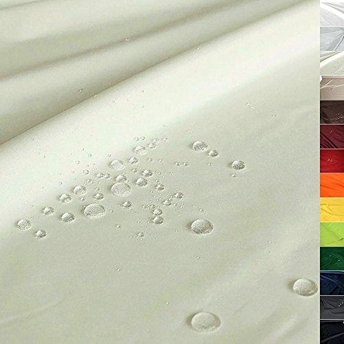 TOLKO Sonnenschutz NYLON Planen-Stoff Meterware - 180 cm Breit, Wasserdicht, Reißfest und Blickdicht als Universal Outdoorstoff zum Nähen (Hellbeige)
