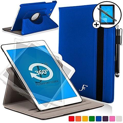 Forefront Cases® Samsung Galaxy Tab 3 Lite 7.0 SM-T110 Funda Carcasa Stand Smart Case Cover Protectora Giratorio de Cuero – Función automática inteligente de Suspensión/Encendido + Lápiz óptico y protector de pantalla