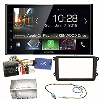 Kenwood-DMX-7018BTS-CarPlay-Android-Auto-Bluetooth-Autoradio-Moniceiver-Touchscreen-USB-MP3-Einbauset-fr-Golf-5-6-Passat-3C-B7-Touran