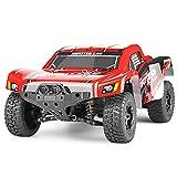 AIOJY Voiture de Course RC 4x4 à l'échelle 1/18 à l'échelle 50km / h Haute Vitesse avec 2,4 G (Taille: Double Batterie) Télécommande Tout-Terrain Rapide RTR Buggy Monster Truck