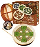 Waltons: 12 Inch Irish Bodhran Gift Set / Beater / DVD Tutor/ Case / Cloghan Cross Bodhran Design
