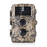 Wildkamera, RAGU Low-Glow Wasserdicht Infrarot Wildtierkamera 8MP 720P, Jagdkamera mit 20m Detektionsbereich, 20m Nachtsicht und 34 St. schwarze 850nm IR-LEDs (1 Jahr Gewährleistung)