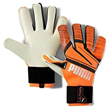 PUMA Ultra Grip 1 Hybrid PRO, Guanti da Portiere. Unisex-Adulto, Shocking Orange White Black, 9