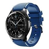 12shage für Samsung Gear S3 Frontier Neue Art und Weisesport Silikon Armband Uhr Band (Marine)