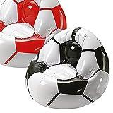 KSI International GmbH Fanartikel Aufblasbarer Fußballsessel (Farbe: Schwarz)