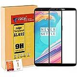 Totalcare One Plus 5T Tempered Glass | 3D Full Screen Full Glue Screen Protector Guard | Anti Fingerprint | Perfect Clarity [Midnight Black]