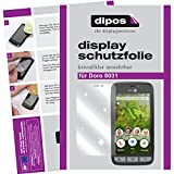 dipos I 2X Schutzfolie klar passend für Doro 8031 Folie Displayschutzfolie