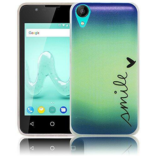 thematys Passend für Wiko Sunny 2 (Nicht für Sunny 2 Plus) Smile Silikon Schutz-Hülle weiche Tasche Cover Case Bumper Etui Flip Smartphone Handy Backcover Schutzhülle Handyhülle