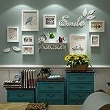 LI LU SHOP Rahmen Holz Bilderrahmen, Moderne Einfache Hochwertige Rahmen, Beste Große Bilderrahmen Wand Set Haus Dekoration (Farbe : Weiß)
