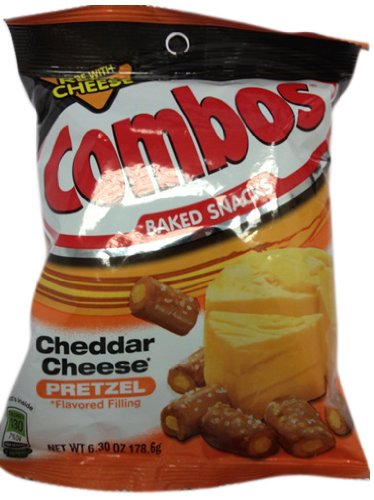 Combos Cheddar Cheese Pretzel 178.6g (Pack of 3) ...
