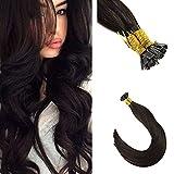 Ugeat Dream Rallonge Extensions de Cheveux 50Gram 50Strands 22pouces Soyeux Droite Brun Foncé Pré Adhésif Plat Kératine Extensions Cheveux Naturels Naturel