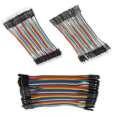 Component7-Jumper Wire - (40 Pin Male-Male + 40 Pin Female-Female + 40 Pin Male-Female)