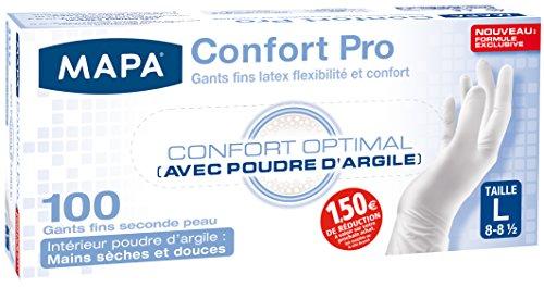 Mapa Gants de Ménage Confort Pro Boîte de 100 Gants Taille 8/L