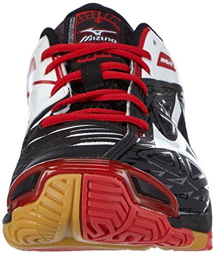 Mizuno Wave Stealth 3 Herren Handballschuhe Schwarz (black/white/chinese red) JWYy2Q