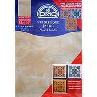 DMC - Tela da ricamo Aida effetto marmo, 55 quadretti / 10 cm, 51 x 76 cm, colore sabbia