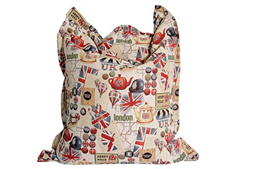 Vintage Sitzsack Gobelin - Design 'London'