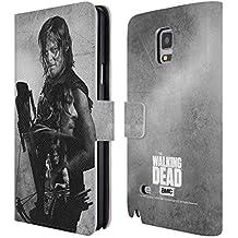 Officiel AMC The Walking Dead Daryl Exposition Double Étui Coque De Livre En Cuir Pour Samsung Galaxy Note 4