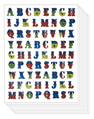 Alphabet Buchstaben A bis Z, klein, klein, bunt, dekorativ, 10 Bögen