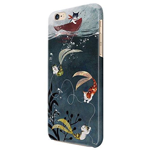 Cover Custodia Protettiva Gatti Pesca Amore Pesci Sirene Case Iphone 4/4S/5/5S/5SE/5C/6/6S/6plus/6s plus Samsung S3/S3neo/S4/S4mini/S5/S5mini/S6/note