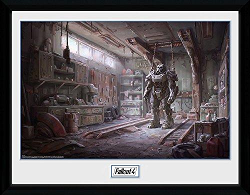 fallout bilder 1art1 100273 Fallout - 4, Red Rocket Interior Gerahmtes Poster Für Fans Und Sammler 40 x 30 cm