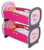Smoby Toys, 220314, Baby Nurse, Lits Jumeaux, Lit Superposés, 2 Draps Inclus