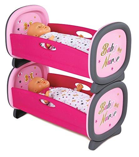 Smoby - 220314 - Baby Nurse - Lits JumEaux - Lit Superposés - 2 Draps Inclus
