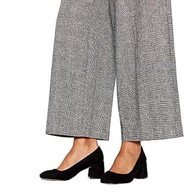 53e9c33c7387 Faith Womens Black Suedette  Wandice  Block Heel Wide Fit Shoes ...
