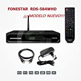 FONESTAR RDS-584WHD - Receptor satélite HD (Full HD, WiFi, Ethernet), Color Negro