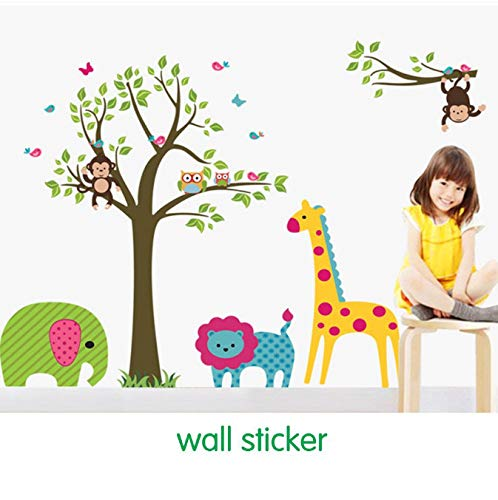 captain_y Vinyl Wandaufkleber Eule Baum Giraffe Kinder Baby Wohnkultur Tapeten Klebstoff Deco Large Adhesive Art