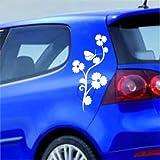 malango® Autoaufkleber Tribal Flower Aufkleber Auto Sticker Blumen Blume Autosticker 27 x 57 cm gold gold 27 x 57 cm