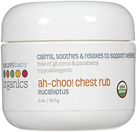 NBO Ah-Choo Chest Rub - Eucalyptus - USDA - 95% Organic by Nature's Baby Organics