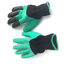 Bbacb Garten-pflanzen Handschuhe, Schutz Isolierte Handschuh Boden Aushub Handschuhe Mit Krallen