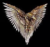 Wandrelief Steampunk Rabe | Krähe aus Schwertern | Deko Figur Gothic Fantasy